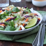 Thai-Inspired Chicken Cabbage Salad with Peanut Dressing
