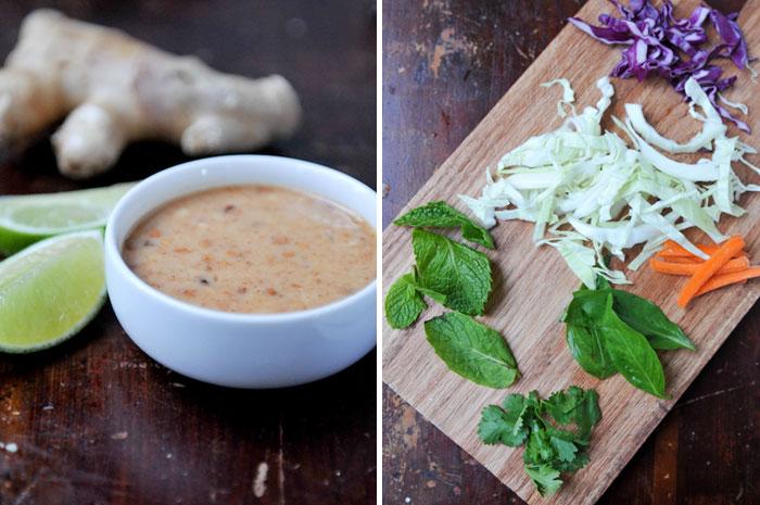 Thai-Inspired Chicken Cabbage Salad with Peanut Dressing