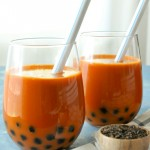 Thai Pearl Milk Tea | Cha Nom Khimuk | ชานมไข่มุก