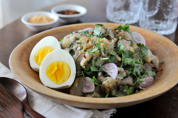 Grilled Eggplant Salad | Yum Makeua Yao | ยำมะเขือ