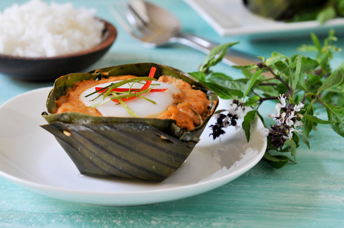 Thai Curry Fish Custard | Hor Mok | ห่อหมก