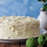 White Cake with Kaffir Lime Curd