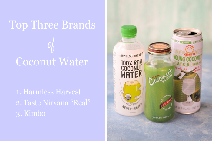 Thai Test Kitchen: Which brand of coconut water is best?