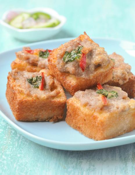 Thai Pork Toast | Khanom Pang Na Moo | ขนมปังหน้าหมู