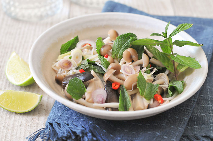 Thai Mushroom Salad | Yum Hed | ยำเห็ด