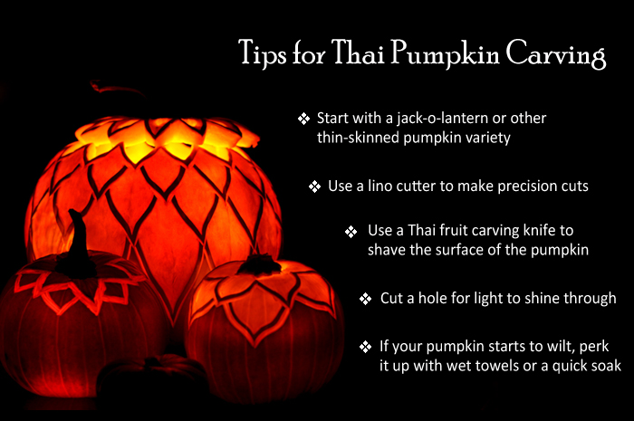 Thai-Inspired Pumpkin Carving