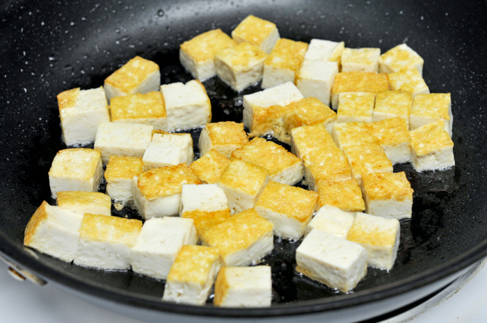 Yellow curry with tofu and vegetables gang garee tau hoo you can buy tofu that is already fried at an asian market or just as easily pan fry small blocks of firm tofu until they are crispy on all sides forumfinder Choice Image
