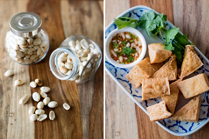 Fried Tofu with Chili Dipping Sauce | Tau Hu Tod | เต้าหู้ทอด